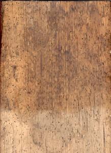 Spuren vom Holzwurm